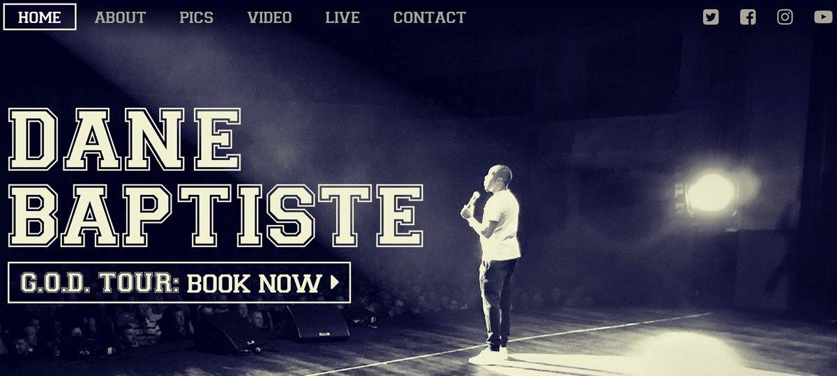Dane Baptiste website