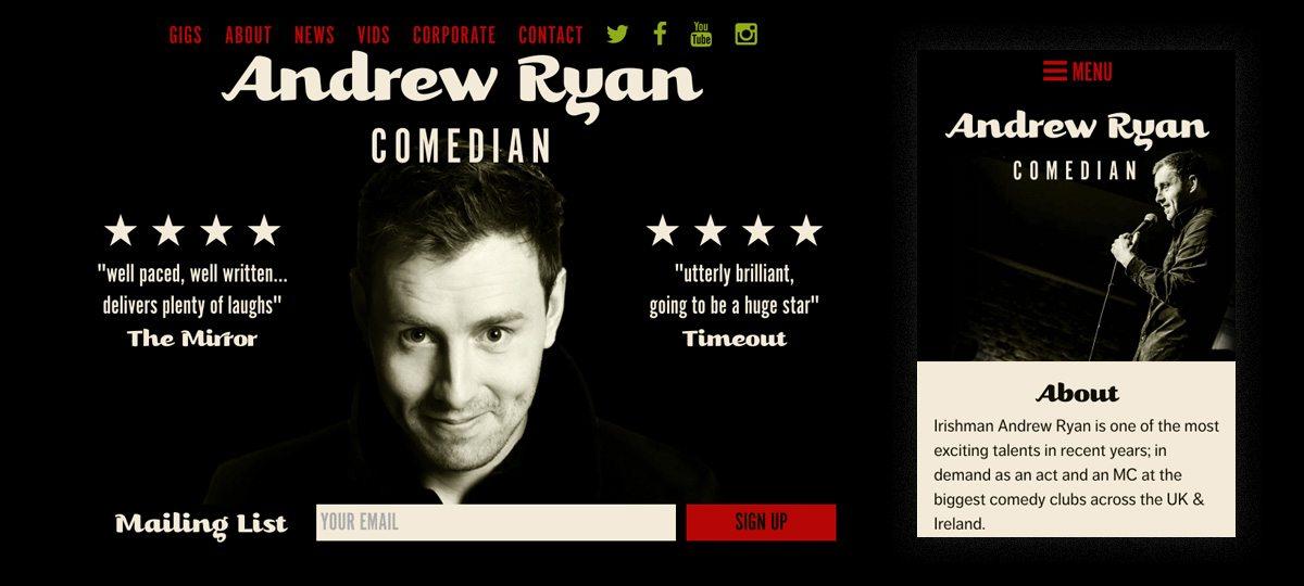 Andrew Ryan Webiste