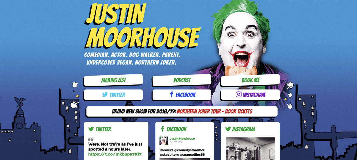 LUA Designs website for Justin Moorhouse