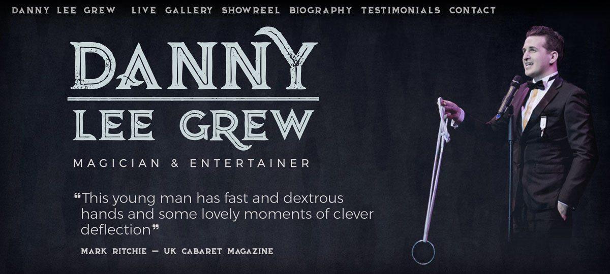 Danny Lee Grew Magician website