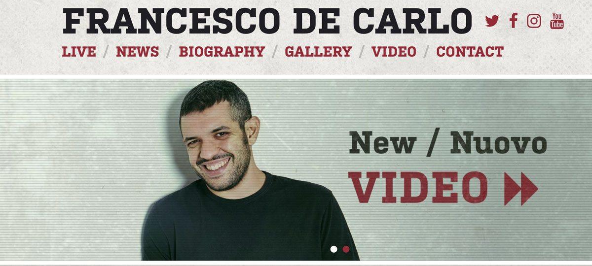 Francesco De Carlo website