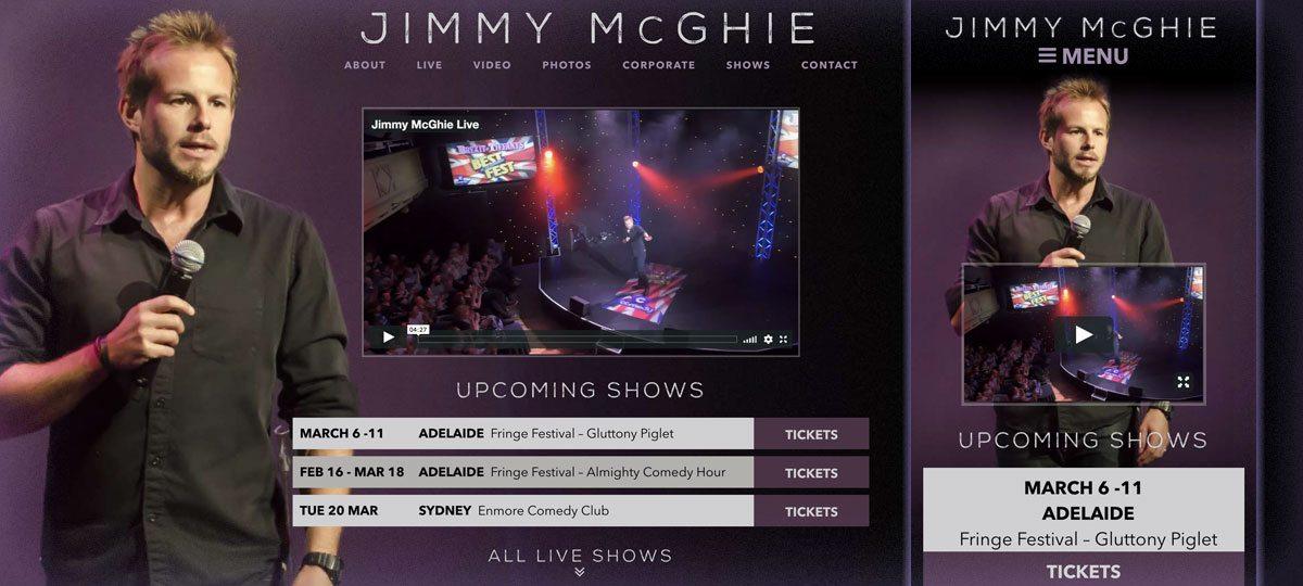 Jimmy McGhie website development