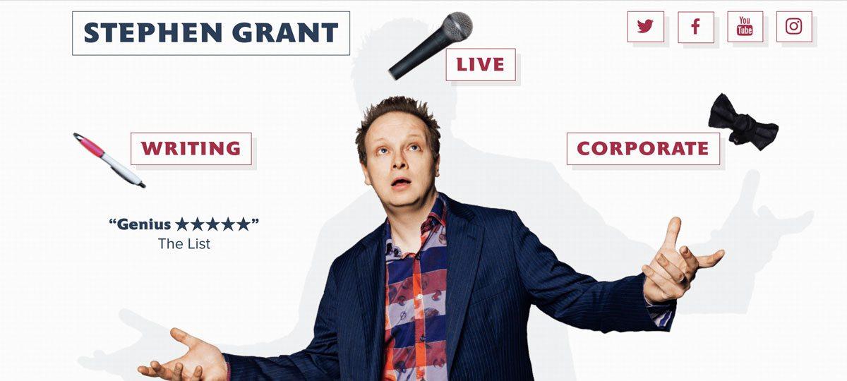 Stephen Grant comedian website