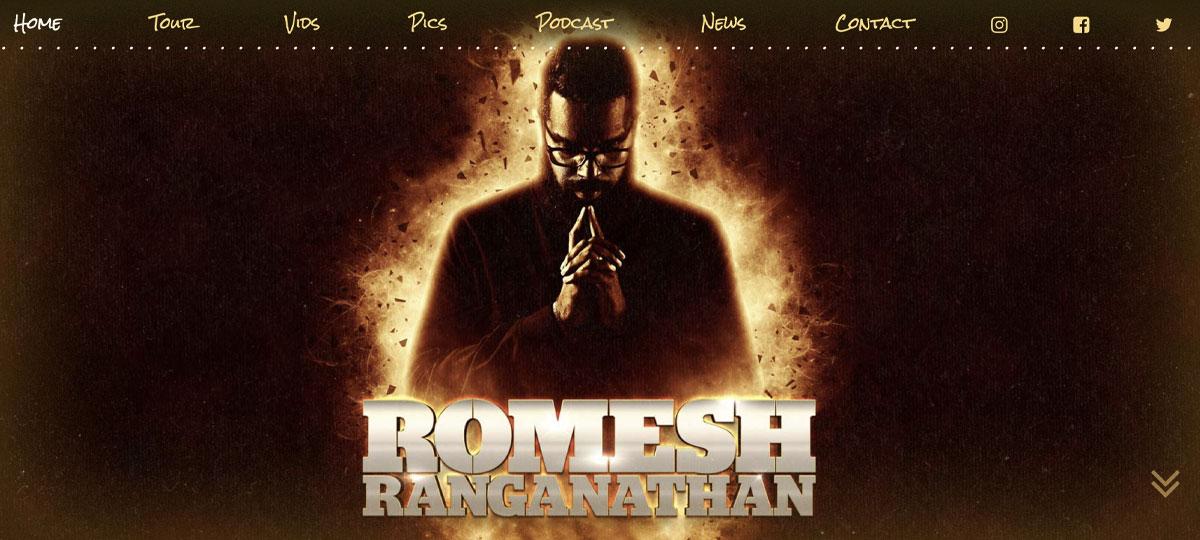 LUA Designs Romesh Ranganathan website