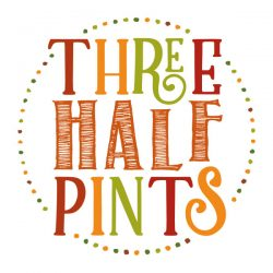 LUA Designs logo created for Three Half Pints