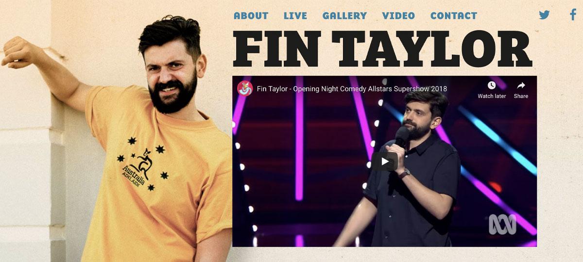 Fin Taylor website design