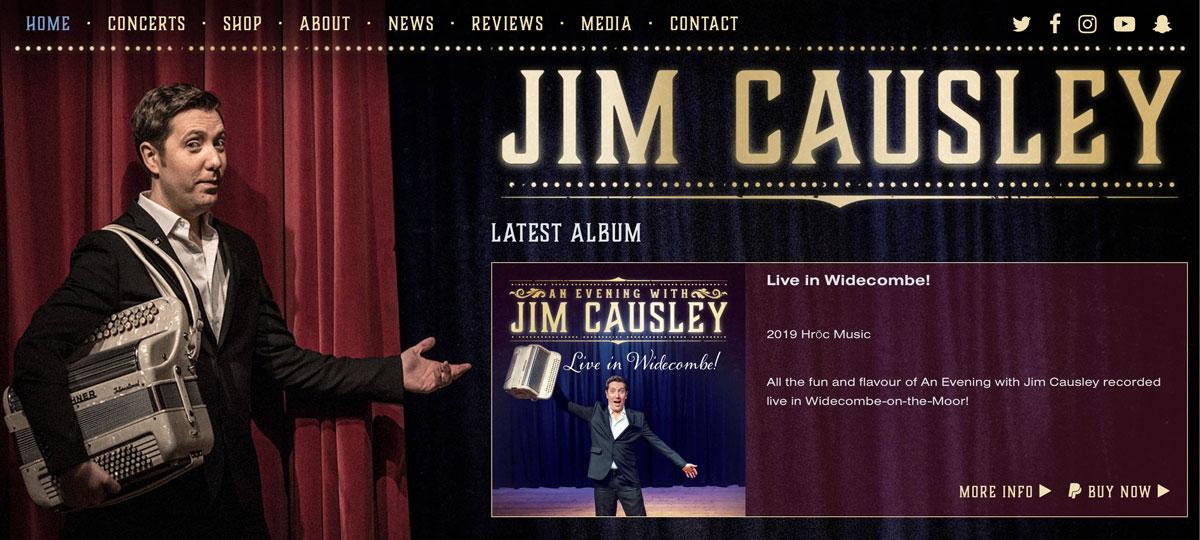Website design for Jim Causley