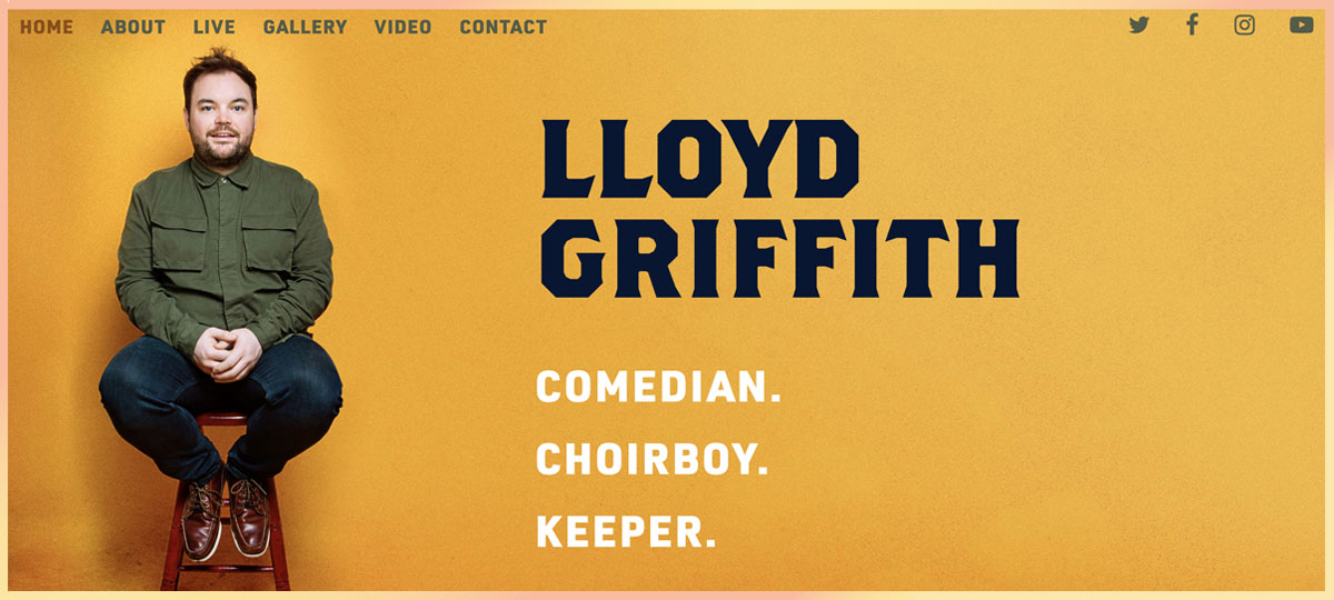 Lloyd Griffith comedian website design