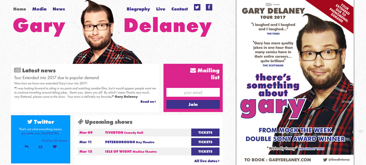 Gary Delaney website banner